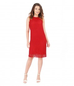 Cotton lace dress with bow at the back