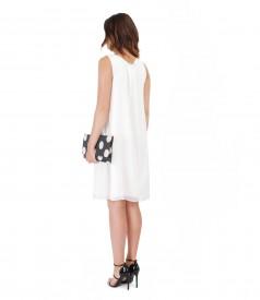Veil dress with handbag printed with dots