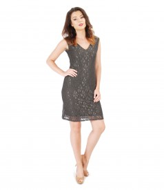 Lace dress with floral motifs