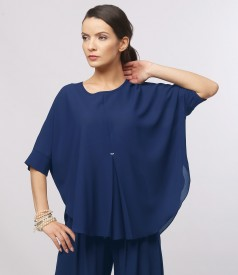 Butterfly blouse with front folds