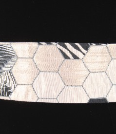 Belt of brocade with cotton and effect thread