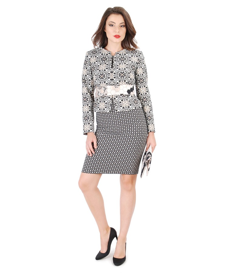 Cotton broacade with metalic thread elegant outfit