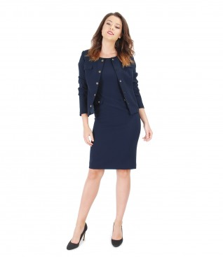 Office women outfit with elegant dress