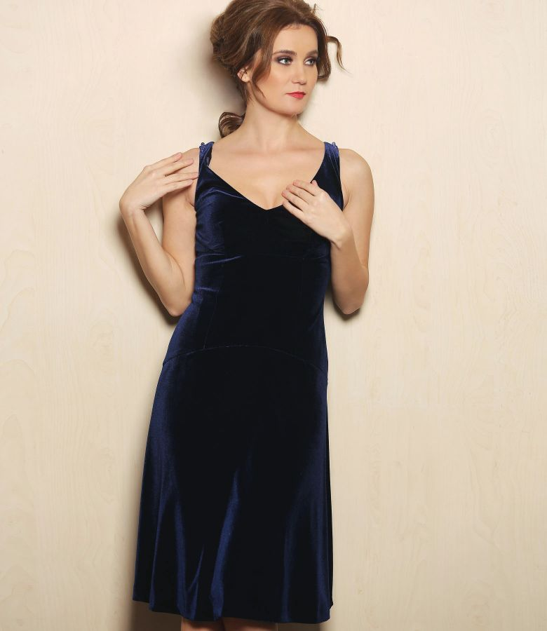 Elastic velvet elegant dress