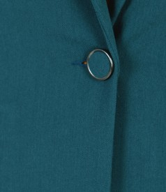 Office jacket with side zippers