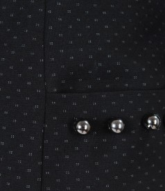 Thick elastic jersey jacket with dots