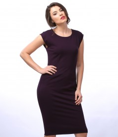Elegant thick elastic jersey dress