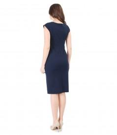 Elegant thick elastic jersey dress