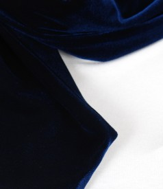 Elastic navy velvet scarf