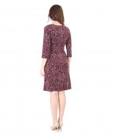 Elastic jersey dress printed with geometric motifs