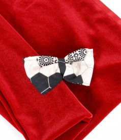 Brocade with cotton and effect thread accessory bow
