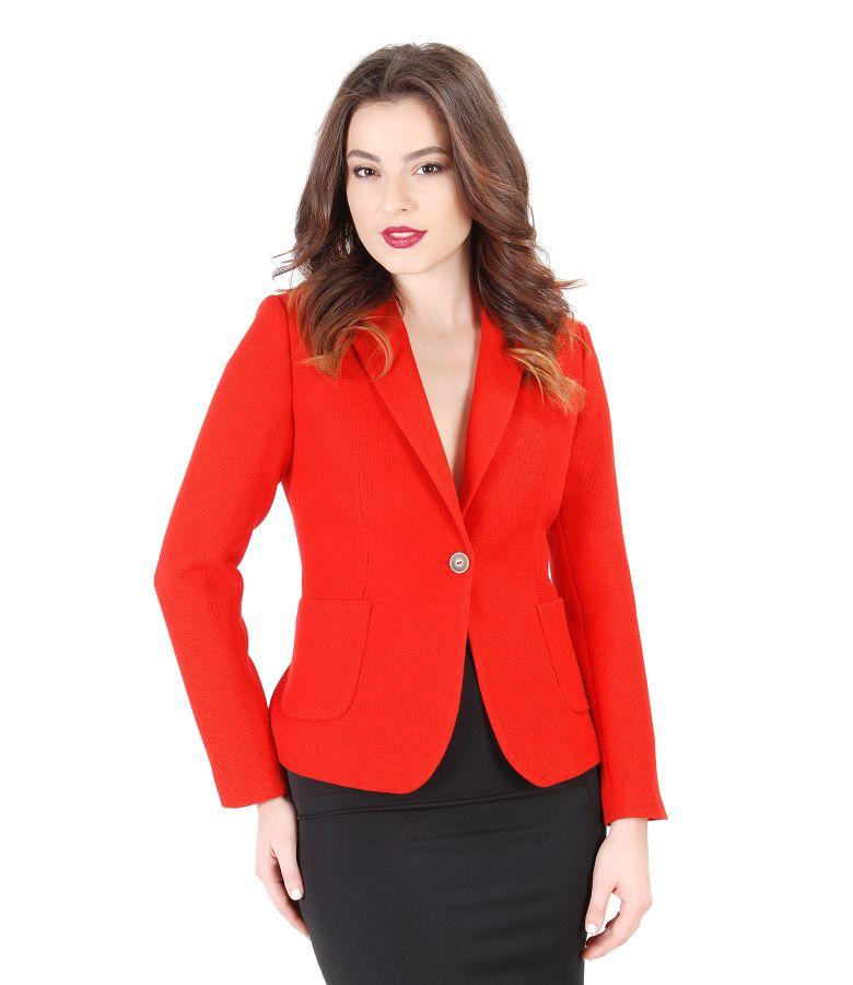 Elastic fabric office jacket