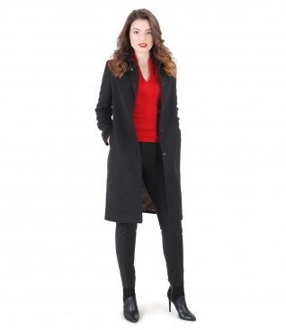 Elegant outfit with jacket with lapel and pants