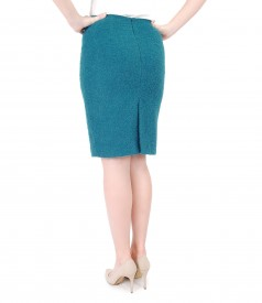 Elegant skirt with wool loops and alpaca