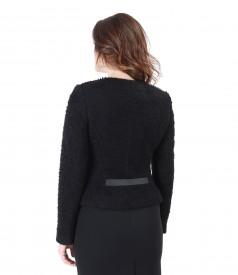 Elegant jacket with wool loops
