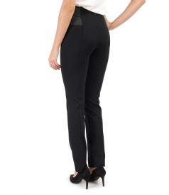 Ankle pants with elastic at the top
