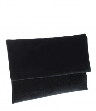 Black elastic velvet purse