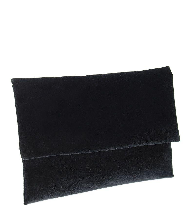 Black elastic velvet purse