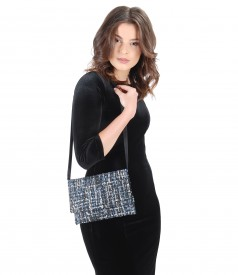 Multicolor loops purse with silver effect thread