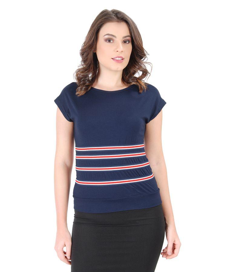 Uni jersey t-shirt with elastic waist