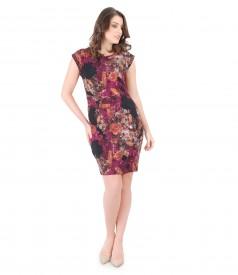 Elegant brocade dress with floral print