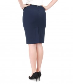 Office skirt with elastic waist
