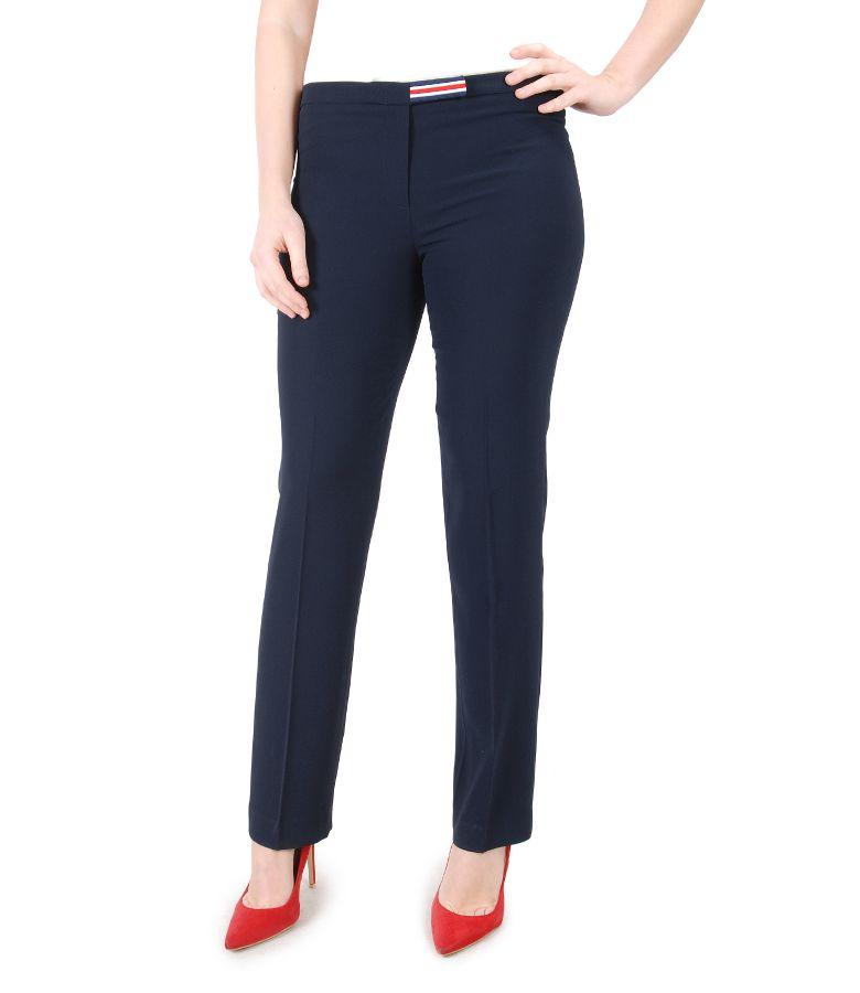 Elegant pants with multi-color elastic waist