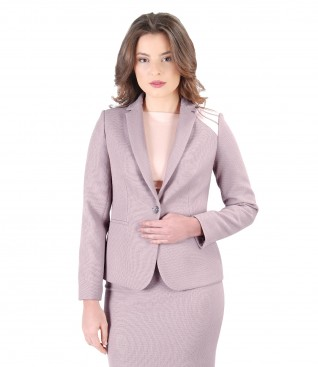 Elastic fabric office jacket