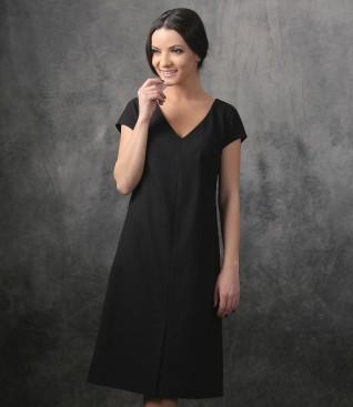 Fabric elegant dress with stripes