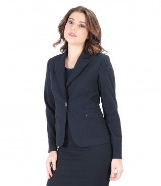 Fabric office jacket with stripes