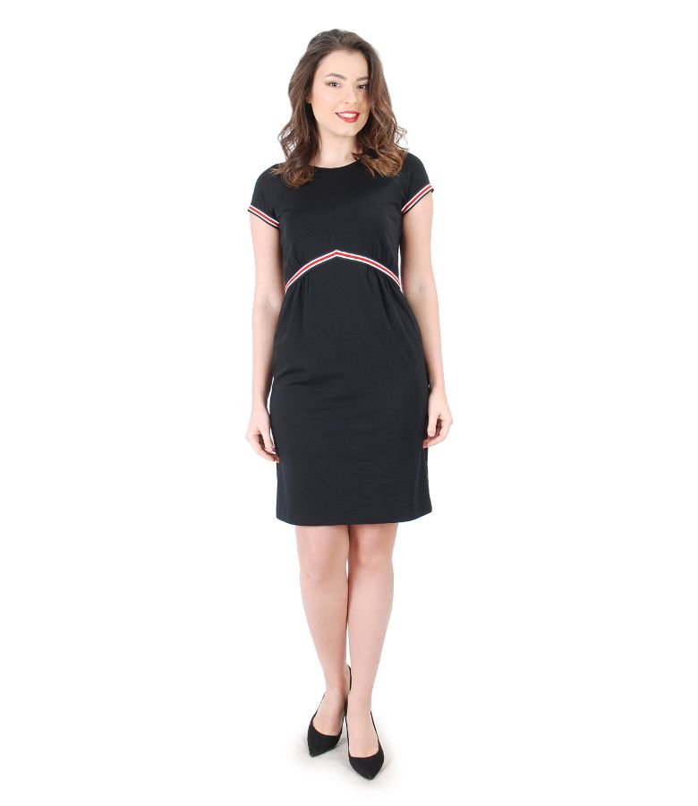 Elegant dress with multi-color elastic waist