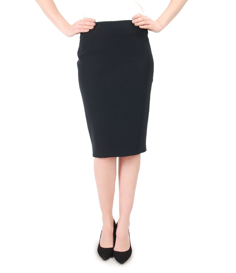 Office skirt with flap