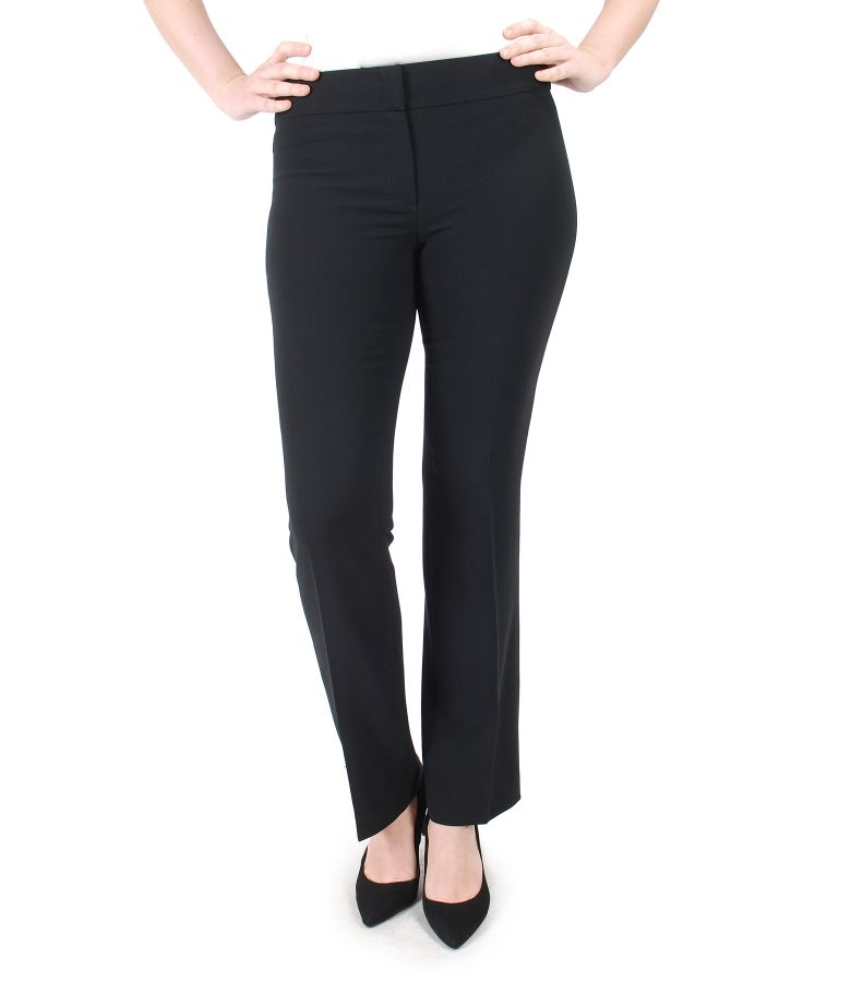 Office pants with flap