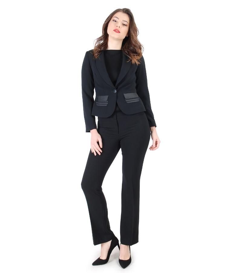 Women office suit with jacket and elegant pants