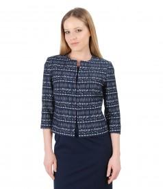 Elegant jacket made of elastic corrugated cotton
