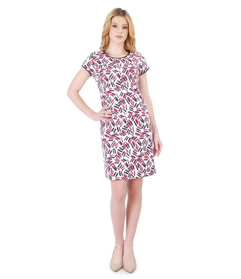 Flaring dress made of elastic cotton