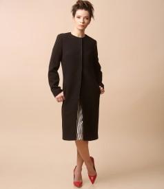 Elegant jacket with round collar