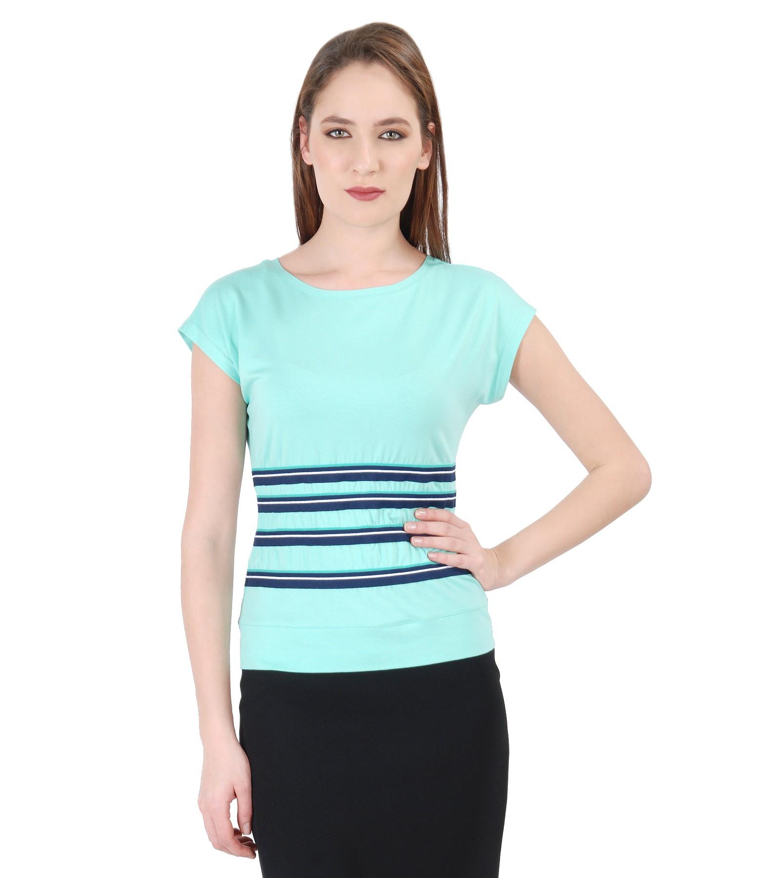 67256dc9144 Uni jersey t-shirt with elastic waist mint green - YOKKO