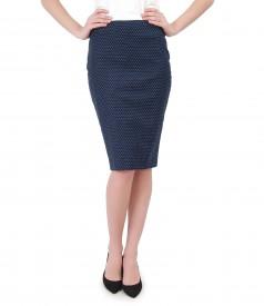 Elegant printed skirt with lace corner