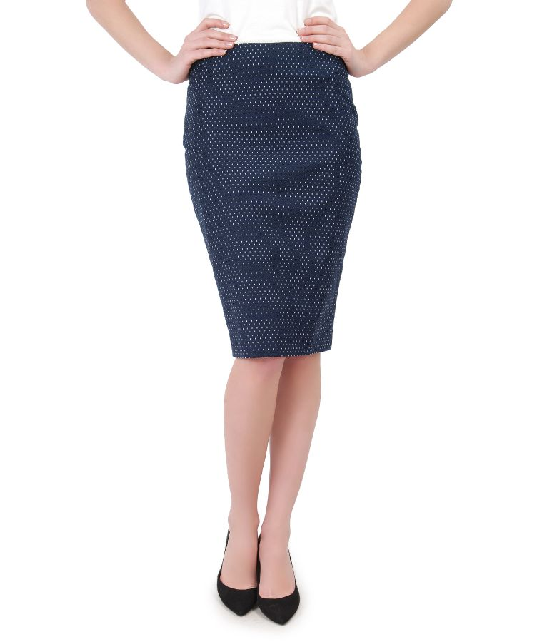 Elegant printed skirt with lace corner