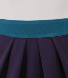 Three colors elegant dress