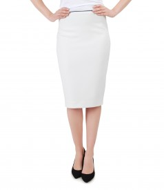 Elegant skirt with navy trim
