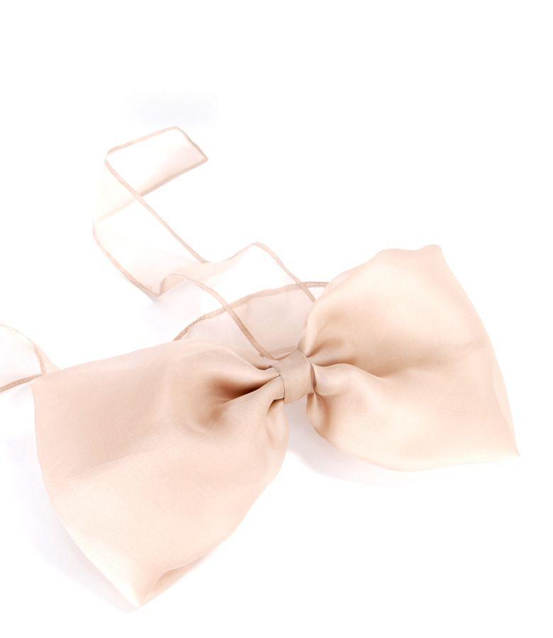 Silk organza accessory bow