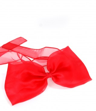 Silk organza accessory bow