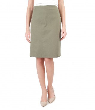 Flaring dress made of textured cotton
