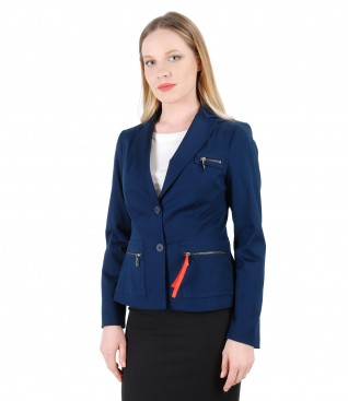 Elegant jacket made of textured cotton
