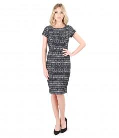 Elegant dress made of elastic corrugated cotton