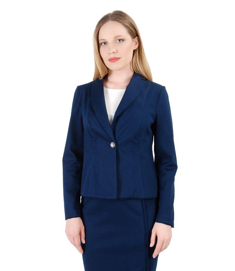 Textured cotton jacket with fringe