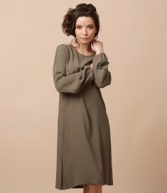 Viscose flaring dress