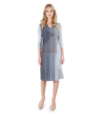 Elegant dress made of printed jersey
